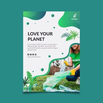 Modello di poster ambientale