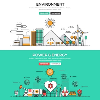 Environment and power and energy banner