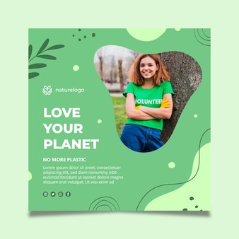 Environment squared flyer template