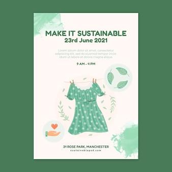 環境持続可能な衣類のポスター
