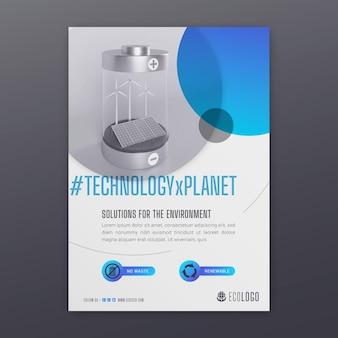 Environment vertical flyer template