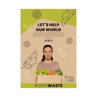 Шаблон вертикального плаката окружающей среды