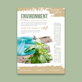 Environment vertical poster template