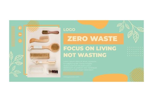 Modello di banner di ambiente zero rifiuti