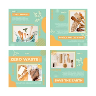 環境ゼロウェイストinstagram投稿テンプレート