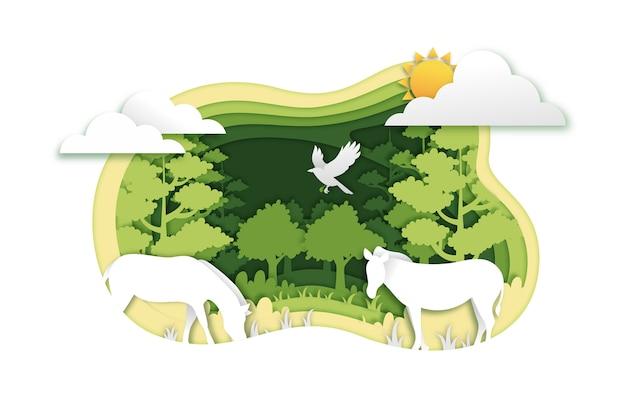紙のスタイルの環境コンセプト