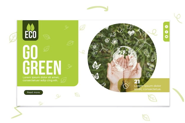 Environmental eco friendly banner