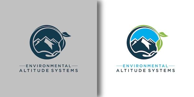 Экологический шаблон логотипа с современной концепцией