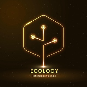 Vettore di logo ambientale con testo di ecologia