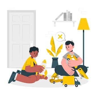 Envy concept illustration