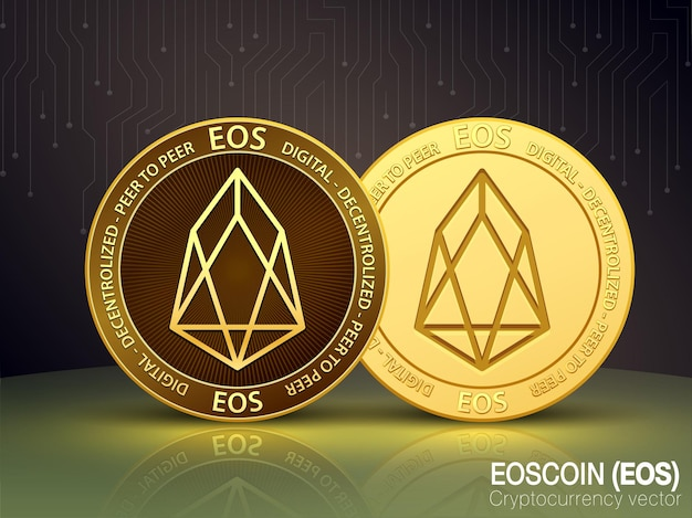 Eos coin cryptocurrency vector