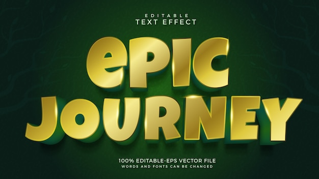 Epic journey text effect