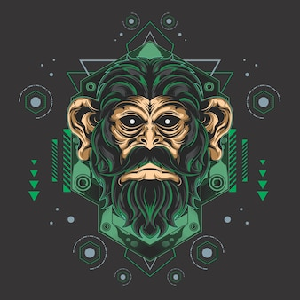 Epic monkey sacred geometry