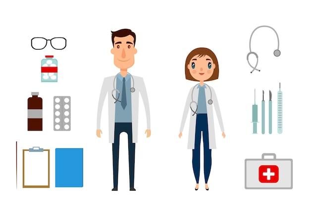 エピデミック病の概念。防護服を着た医師と咳をする若い女性。病原体呼吸器コロナウイルス。