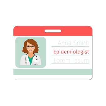 Epidemiologist medical specialist id card template
