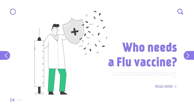 Epidemiology and vaccination website landing page.