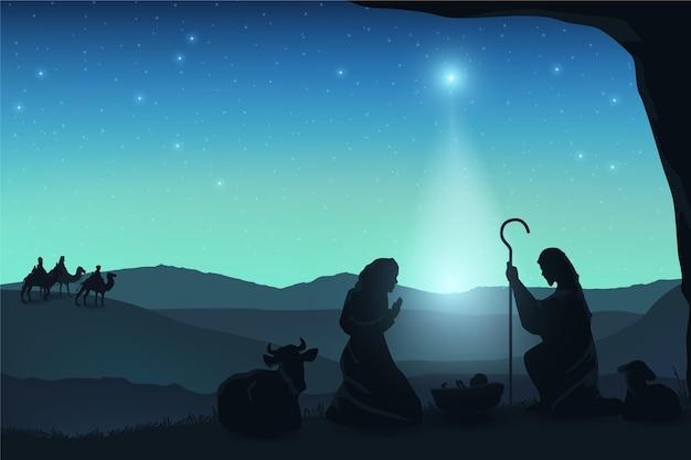 Богоявленские персонажи при свете луны