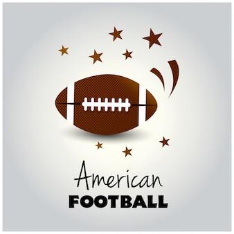 テールゲートパーティー、サッカー招待状などに最適なアメリカンフットボールのフライヤーデザイン。eps 10. epsファイルには透明シートが含まれています。テキストはアウトラインに変換され、自身のレイヤーにあります。