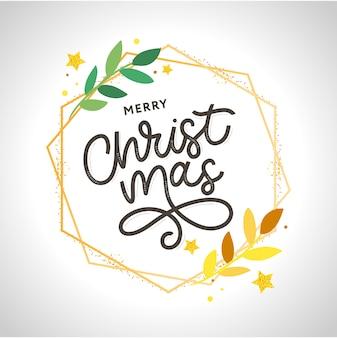 Счастливого рождества, золото, блестящие надписи дизайн. иллюстрация eps 10