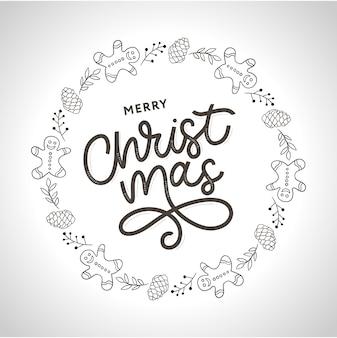 メリークリスマスゴールドのきらびやかなレタリングデザイン。ベクトルイラストeps 10