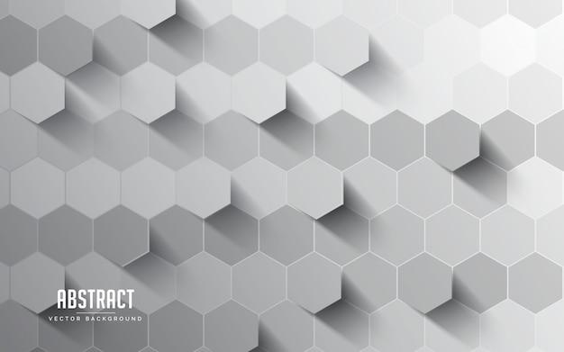 抽象的な背景の六角形のグレーと白の色。モダンな最小限のeps 10