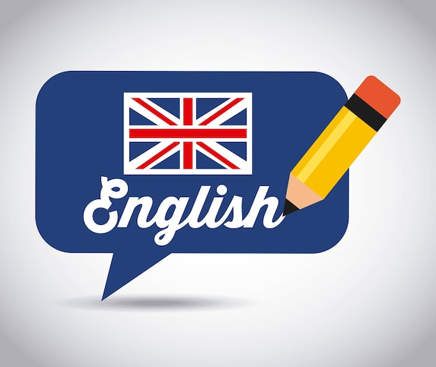 Изучите английский дизайн, векторные иллюстрации eps10 graphic