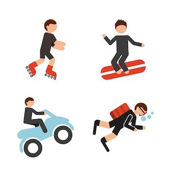 Экстремальный спортивный дизайн, векторная графика eps10 graphic