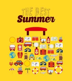 Лучший летний дизайн, векторная графика eps10 graphic