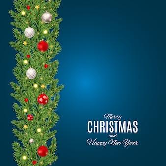 メリークリスマスと幸せな新年のポスター。 eps10
