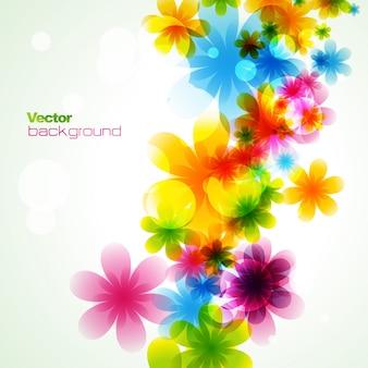 スタイリッシュなカラフルな花eps10ベクトル
