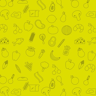 栄養コンセプトデザイン、ベクトルイラストeps10グラフィック