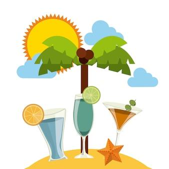 おいしい飲み物のデザイン、ベクトルイラストeps10グラフィック