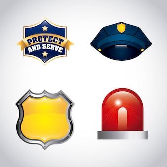州警察のデザイン、ベクトルイラストeps10グラフィック