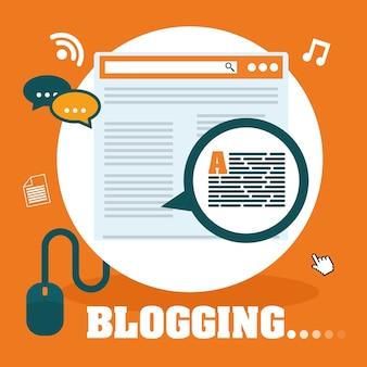 ブログやテクノロジーのグラフィックデザイン、ベクトルイラストeps10