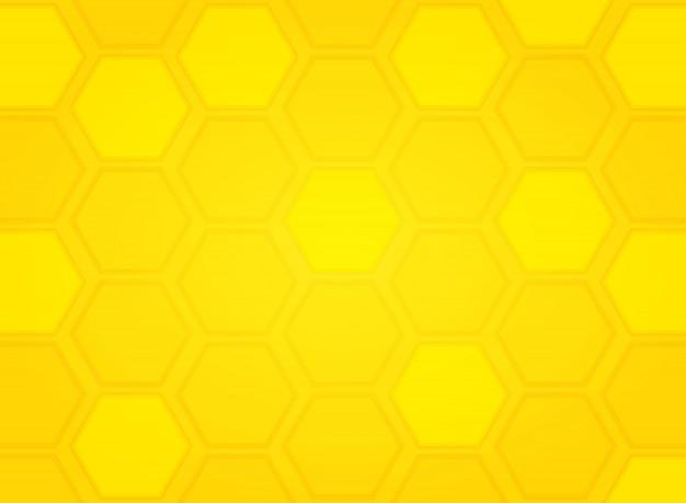 抽象的な現代黄色ミツバチの巣箱パターン六角形の背景。イラストベクトルeps10