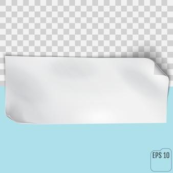 空の紙シート。ベクトルeps10
