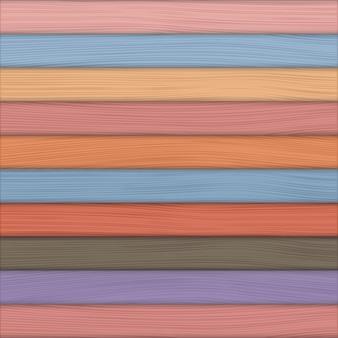 Цветной деревянный фон, векторная иллюстрация eps10