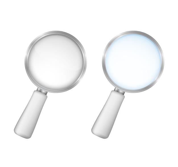 Лупы на белом фоне, векторная иллюстрация eps10