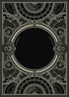 Стимпанк плакат шаблон вектор eps