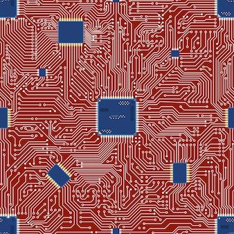 Epsベクトルマザーボード抽象的なシームレス背景。