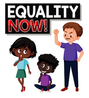 Equality now font text with character