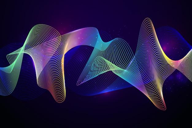 イコライザー波のカラフルな背景