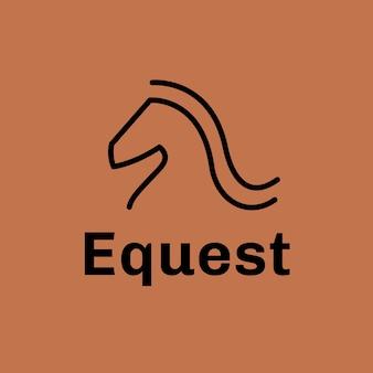 Modello di logo del club equestre, attività di equitazione, vettore di design moderno