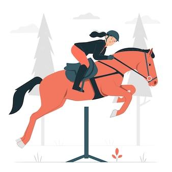 Иллюстрация концепции конного спорта
