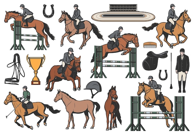 Equestrian sport icons