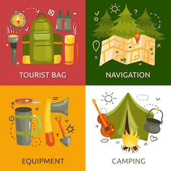 Equipment for camping banner collection