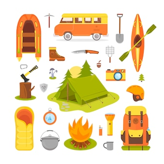 Equipment for camping and hiking