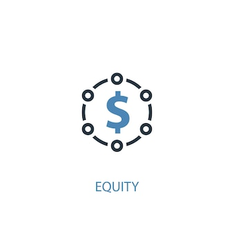 Equity concept 2 colored icon. simple blue element illustration. equity concept symbol design. can be used for web and mobile ui/ux