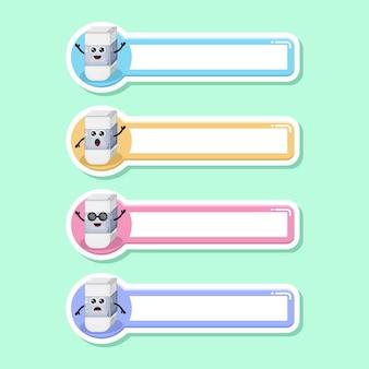 Eraser name tag cute character mascot