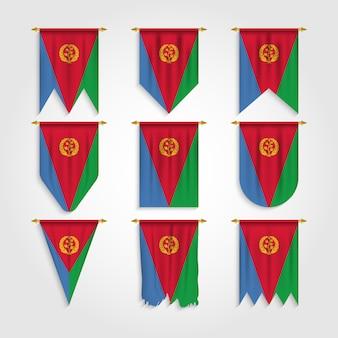 다른 모양의 에리트레아 국기